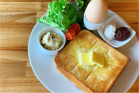 モーニングトーストセット